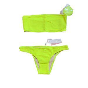 NWT PilyQ Pineapple Bandeau Teeny Bikini Swimsuit